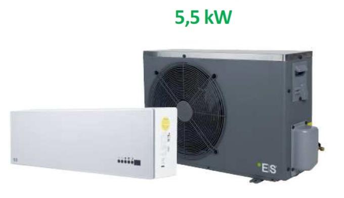 Pompa ciepła powietrze-powietrze typu split 5,5 kW